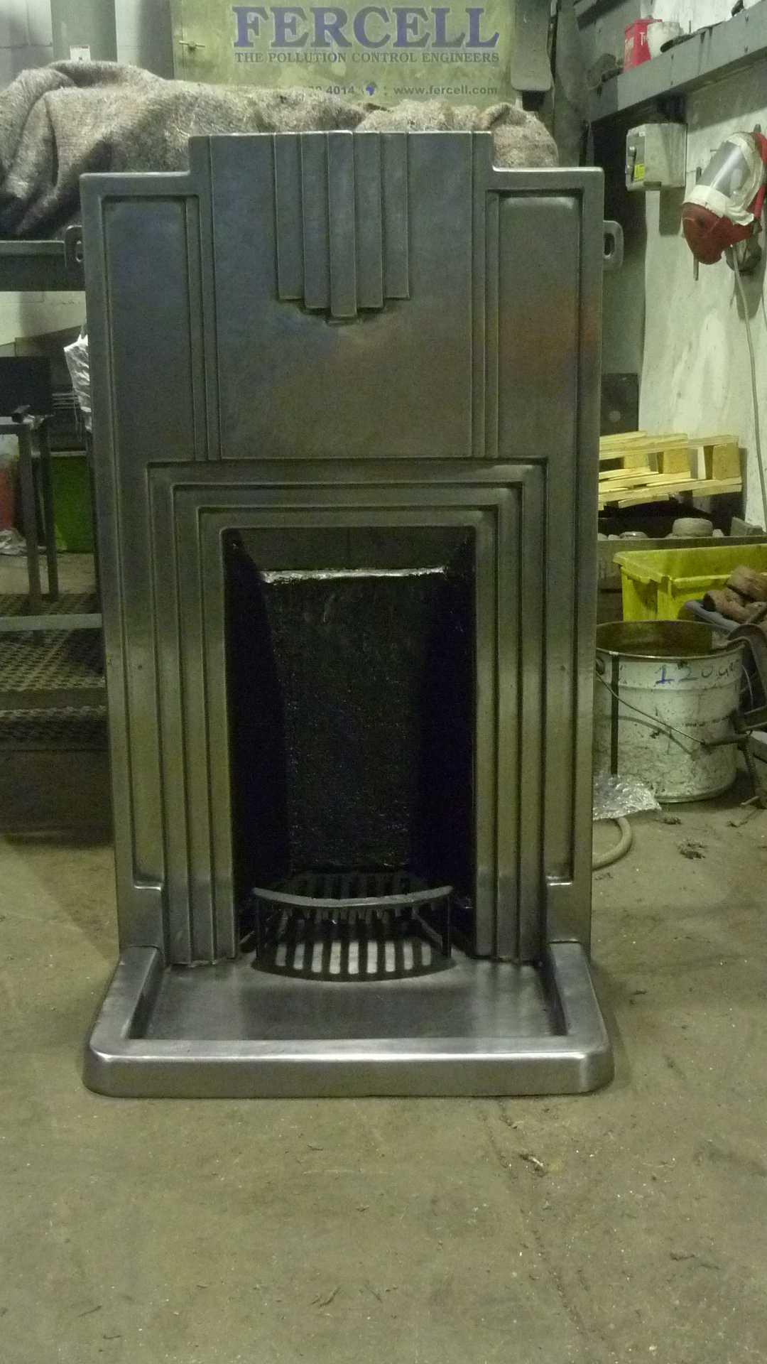 Art Deco Fireplace Blast Spray Polish