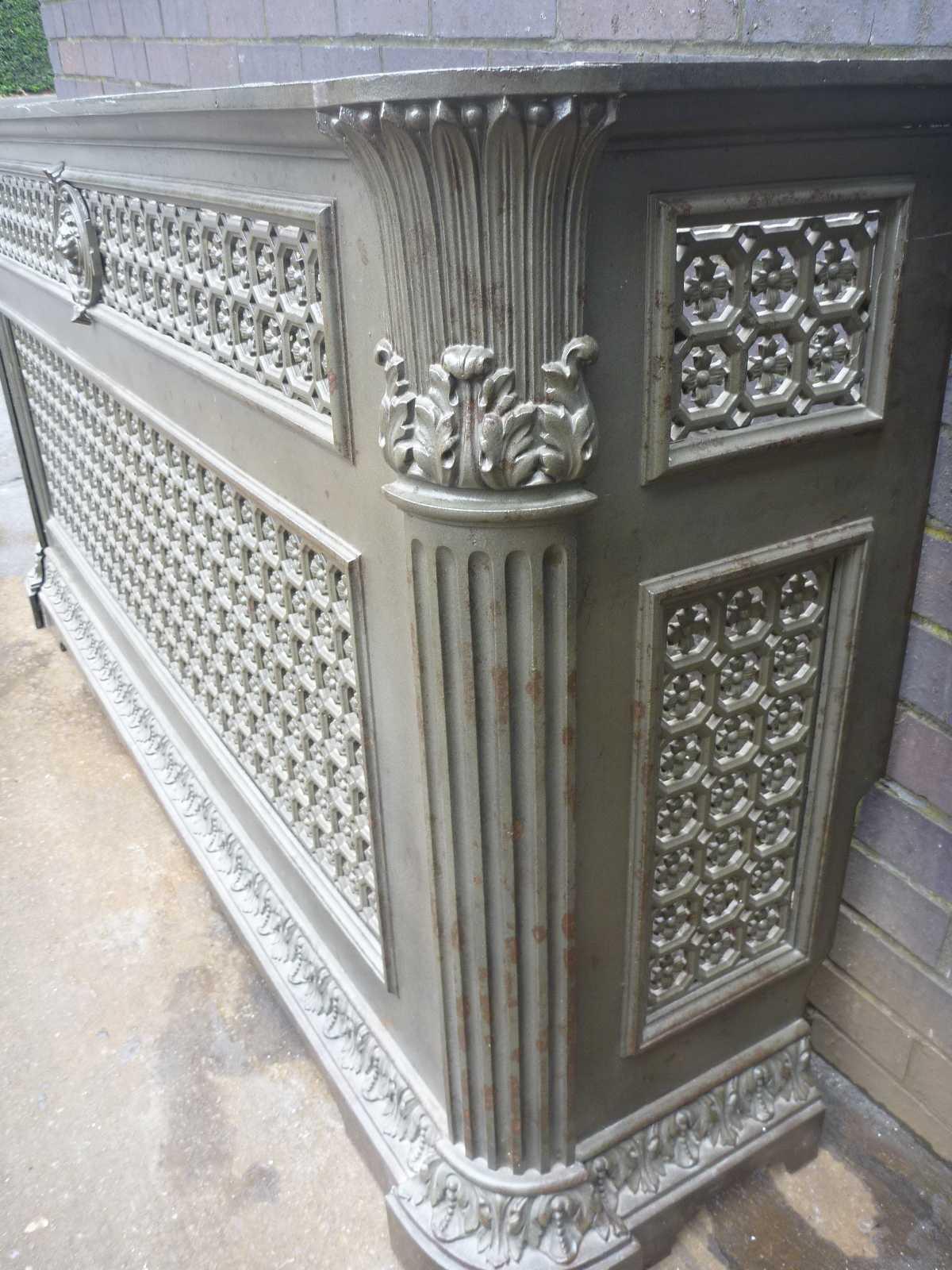 Cast iron radiator cover blast spray polish - Cast iron radiator covers ...