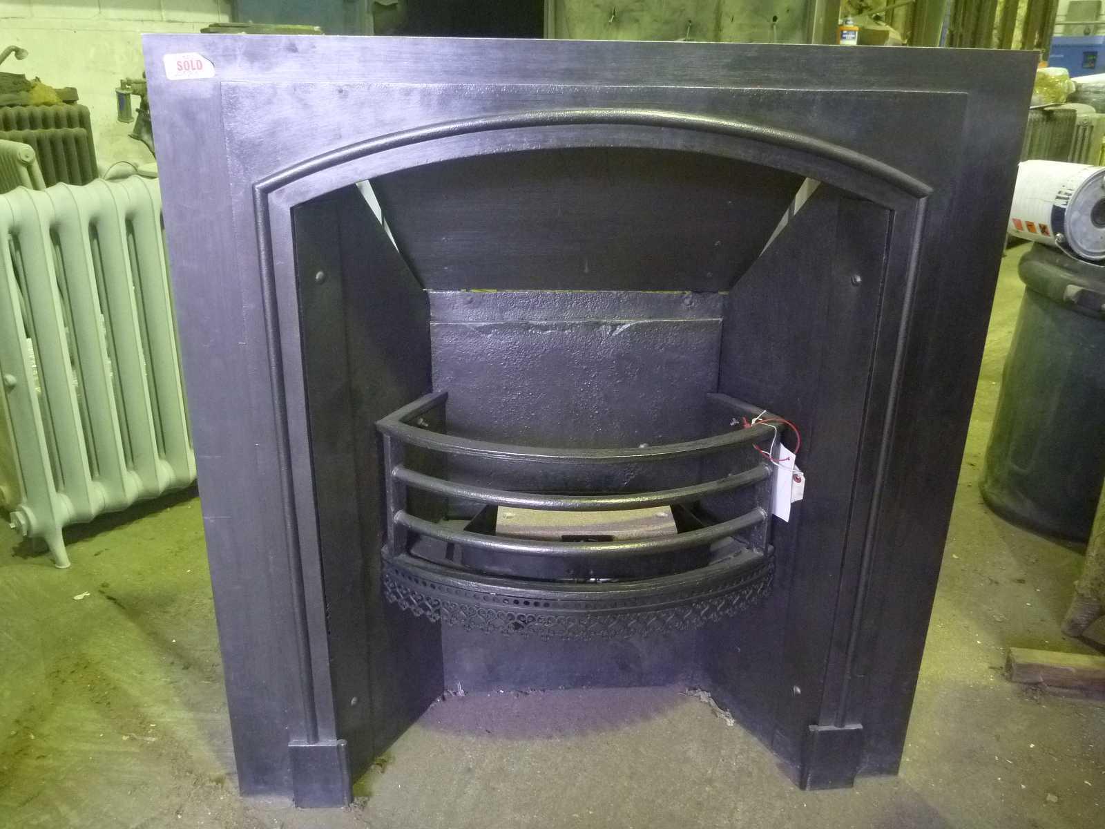 Restored Cast Iron Fireplace Blast Spray Polish