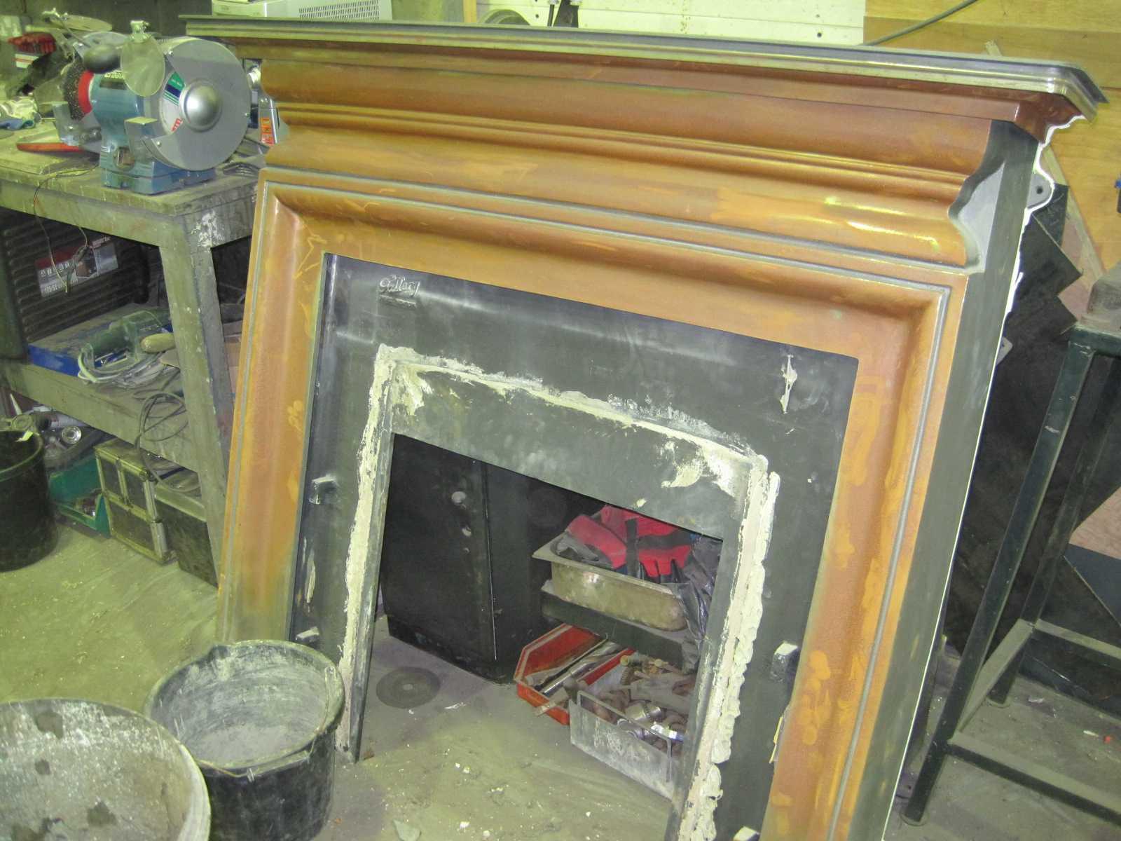 Water Damaged Fireplace Blast Spray Polish